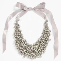 Women's Tasha 'Pretty Pearl' Ribbon Collar Necklace