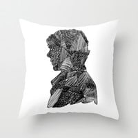 sherlock Throw Pillow by Benbenny