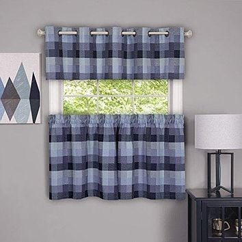 Ben&Jonah Collection Harvard - Valance w/10 Sm Grommets - 58x14 Blue