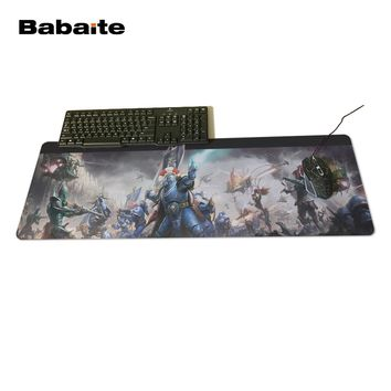 Babaite High quality Warhammer 40 k Gaming Mouse Pad 700 * 300 * 2mm Locking Edge Mouse Pad Speed version Mouse Pad CS go