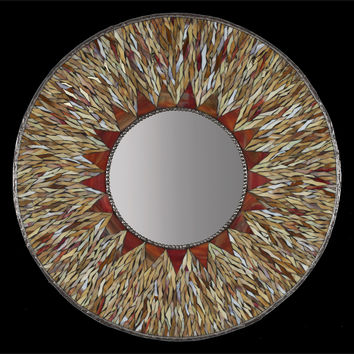 Sunburst Mirror by Michael Solomon: Art Glass Mirror | Artful Home