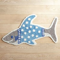 Shark in Shirt Bath Rug