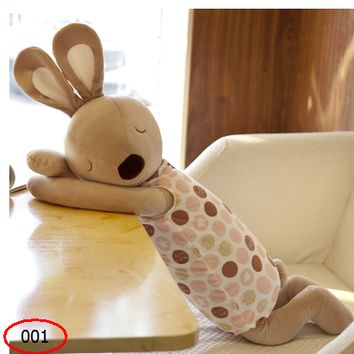 Cute Pillow Rabbit Soothing Pillow Strip Pillow Figurine Holding Sleeping Doll Muppet Birthday Gift Female