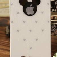 Disney Mickey Hard Case High quility Cover Skin compatible with iPhone 4&4S for Verizon, AT&T and Sprint(White S)