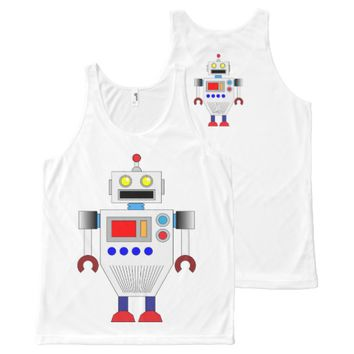ROBOT (WHITE) All-Over Print Tank Top