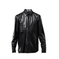 Givenchy Leather Shirt with Removable Collar - Mens