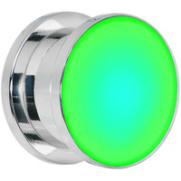 """9/16"""" Stainless Steel Green LED Light Up Screw Fit Plug"""