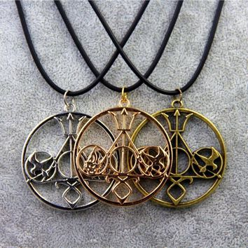 Fashion Movie Necklace Mix The Mortal Instruments Hunger Games Divergent Percy Jackson HP For Collection