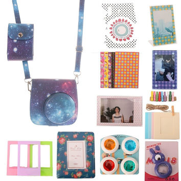 [Fujifilm Instax Mini 8 Classic Camera Case] WOODMIN Starry Sky Galaxy 12-in-...