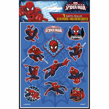 Spider-Man Party Stickers [4 Sheets]