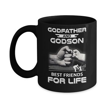 God-Father God-Son Best Friends For Life Fathers Day Mug
