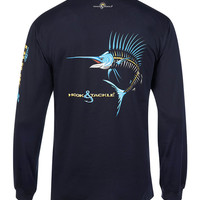 Men's Sailfish Action X-Ray L/S UV Fishing T-Shirt