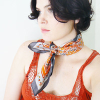 floral vintage scarf by thevintagecloset on Etsy