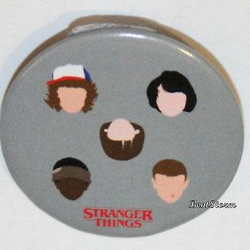 "Licensed cool Netflix Stranger Things Kids Faces Dustin Mike Lucas Will 1 1/4"" Pin Button"