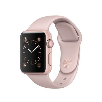Refurbished Apple Watch Series 1, 38mm Rose Gold Aluminum Case with Pink Sand Sport Band - Apple