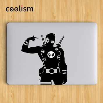 Deadpool Humor Laptop Decal Sticker for Apple MacBook Air Decal 13 Pro Retina 11 12 15 17 inch Vinyl Mac Notebook Skin Sticker