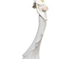 Bridesmaid's Porcelain Wedding Figurine