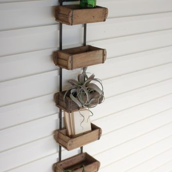 Hanging Antique Reclaimed Wood -- Brick Mold Wall Rack