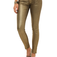 Machine Gold Skinny Pants