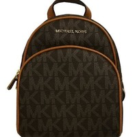 ONETOW Michael Kors Abbey XS Extra Small Back Pack Brown/Acorn
