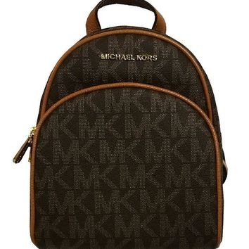 DCCKUG3 Michael Kors Abbey XS Extra Small Back Pack Brown/Acorn