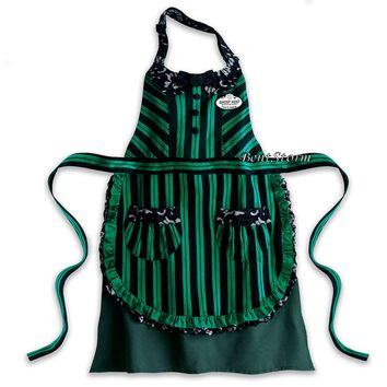Licensed cool Disney Store Parks Haunted Mansion Ghost Host Hostess Maid Adult Kitchen Apron