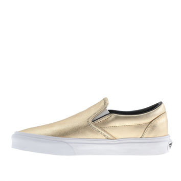 VANS® FOR J.CREW CLASSIC SLIP-ON SNEAKERS IN METALLIC