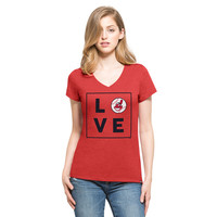 '47 Cleveland Indians Red Club V-Neck Tee