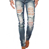 Papaya Clothing Online :: DISTRESSED SKINNY JEANS