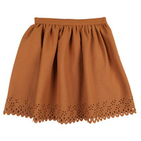 Flared Skirt w/ Flower Punch | FashionShop【STYLENANDA】