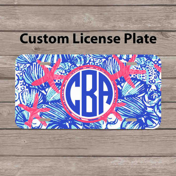 custom monogram license plate - lilly from subcases on etsy
