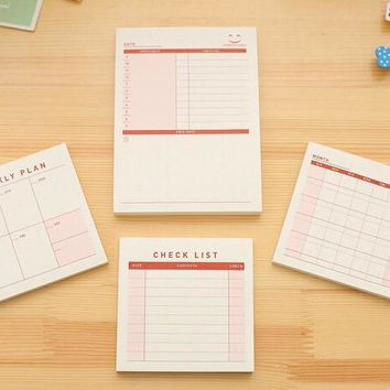 1Pcs Daily Weekly Monthly Desk Diary Planner Stickers Planner Planning Pads To Do List Checklist Memo Pad Post It Paper Office