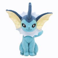 Pokémon Center Original Plush Doll Sitting Trick Pose Vaporeon