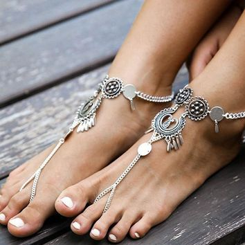 Sexy Gift Cute Shiny Jewelry Stylish New Arrival Ladies Vintage Hollow Out Hot Sale Summer Beach Accessory Anklet [521516810294]