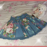Liz Lisa High-Waist Floral Skirt