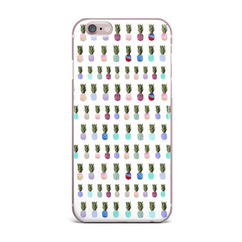 "Monika Strigel ""Pineapple People"" White Multicolor iPhone Case"