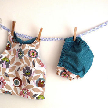 Baby girl apron baby vest baby pinafore and coordinated by arch190