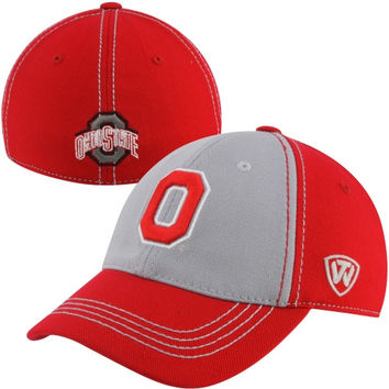 Top of the World Ohio State Buckeyes Youth Jockey Rookie One-Fit Hat - Scarlet/Gray - http://www.shareasale.com/m-pr.cfm?merchantID=7124&userID=1042934&productID=520916936 / Ohio State Buckeyes