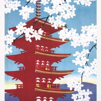 Japan Railway Travel Poster 24x36