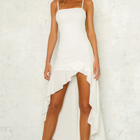 Bigger Than Your Universe Maxi Dress White