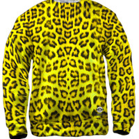 Neon Yellow Leopard Animal Skin