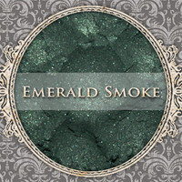 EMERALD SMOKE Mineral Eyeshadow: 5g Sifter Jar, Smokey Dark Green, VEGAN Cosmetics, Shimmer Eye Shadow