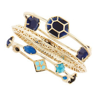 Beverly Bracelet Set, Blue