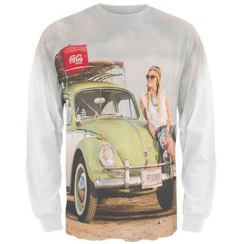 PEAPGQ9 Punch Buggy Wanderlust Travel Girl All Over Mens Long Sleeve T Shirt