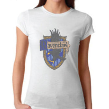 Harry Potter Inspired Clothing - Vintage Ravenclaw Crest Crew Neck - Ladies