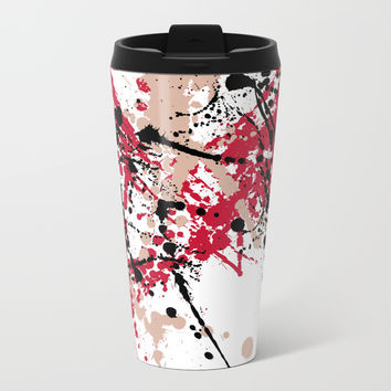 Splatter Metal Travel Mug by M4xout