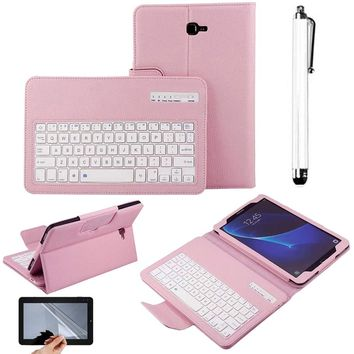 New tablet case For Samsung Galaxy Tab A 10.1 T580 PU Leather Case Stand Cover + Detachable Wireless Bluetooth Keyboard
