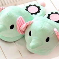 Sentimental Circus Elephant Slippers