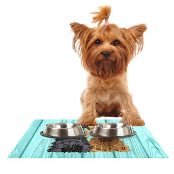 """Art Love Passion """"Daisy and Gatsby"""" Abstract Puppies Dog Place Mat"""