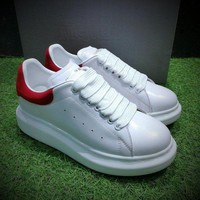 DCC3W Alexander McQueen Sole Sneakers White / Red-1